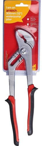 Amtech B1350 Double Injected Grip Joint Plier, 12-Inch